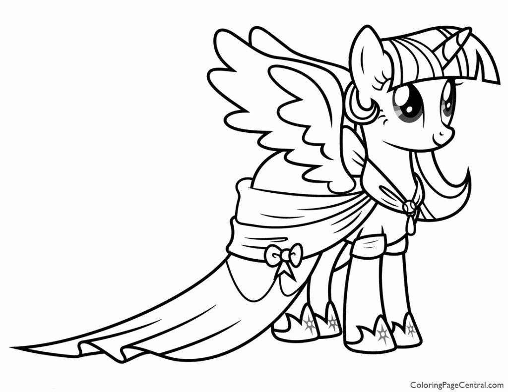 Twilight Sparkle Coloring Page Beautiful My Little Pony Princess Twilight Sparkle 02 C In 2020 My Little Pony Coloring My Little Pony Twilight Unicorn Coloring Pages
