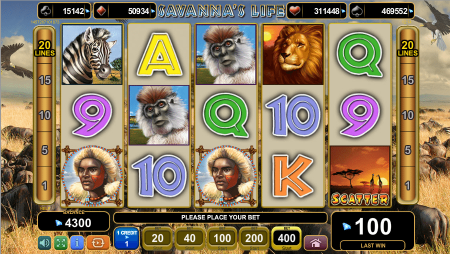 Savannas Life » FreeSlot Online » Click And Play (With