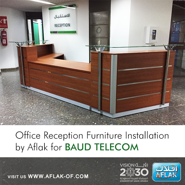 Office Reception Furniture Installation By #Aflak For