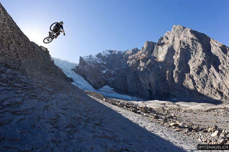 Anders Würsten, Ramon Hunziker at Rosenlaui Glacier in Innertkirchen, Switzerland - photo by geebeebee - Pinkbike