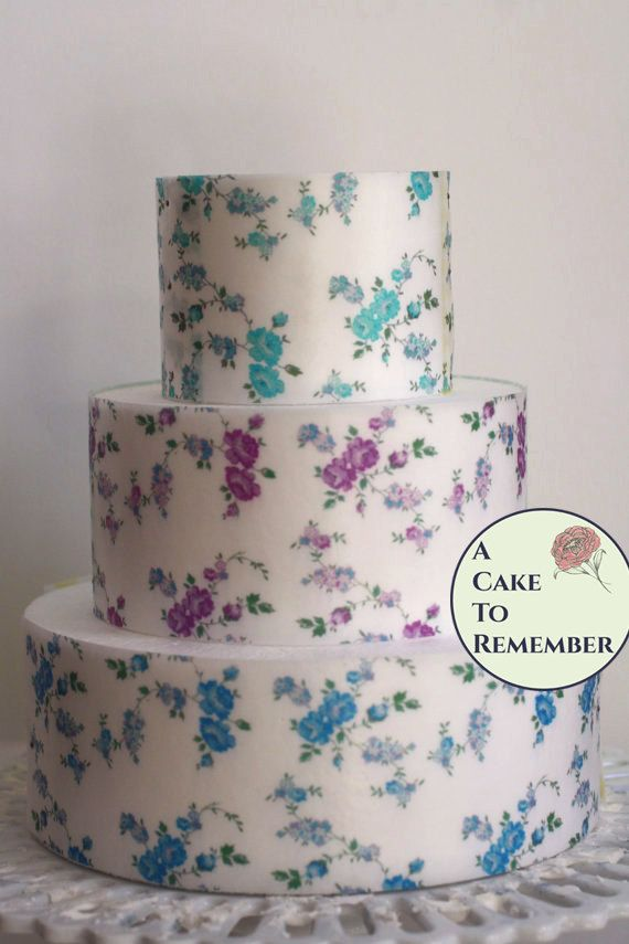 picture regarding Printable Edible Paper called 3 complete sheets vining roses print edible wafer paper for cake