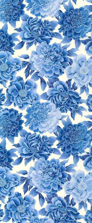 Pin By Barbara Almeida On Patterns Designs Prints Pattern Wallpaper Background Patterns Blue floral wallpaper iphone
