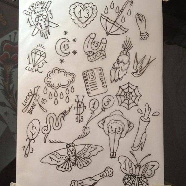 04c8bd3d1 Come and get your Friday the 13th tattoo for 31euros!! Venham fazer uma  tattoo da sexta-feira 13 a 31euros (at Vintage Daggers Tattoo )