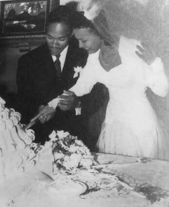 Harold Nichols and Dorothy Dandridge in September 1942 on their wedding day.