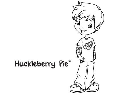 huckleberry pie | Coloring Pages | Tarta de fresa, Rosas, Fresas