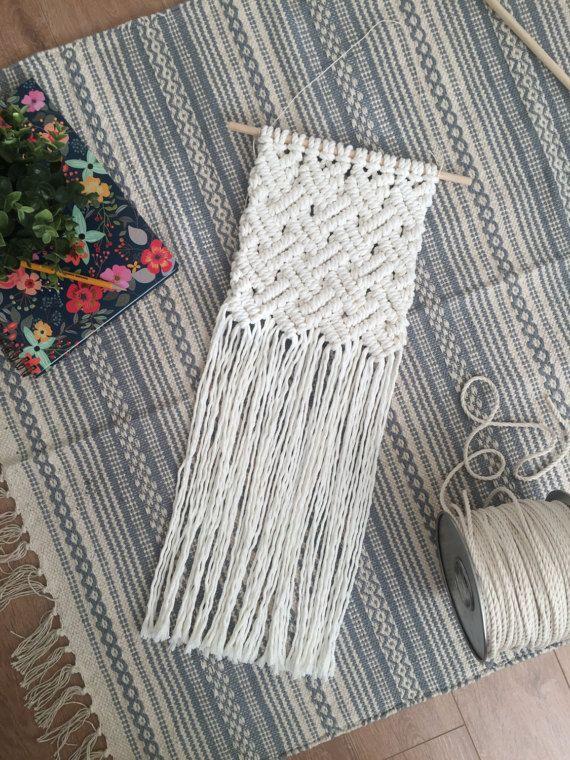 Macrame wall hanging / basket weave / woven wall hanging / wall ...