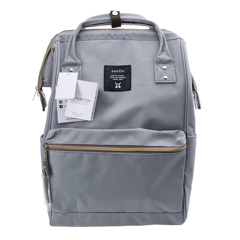 e40a875d8f4 Anello Official Grey Japan Fashion Shoulder Rucksack Backpack Hand Carry  Tablet Travel Diaper Bag Unisex