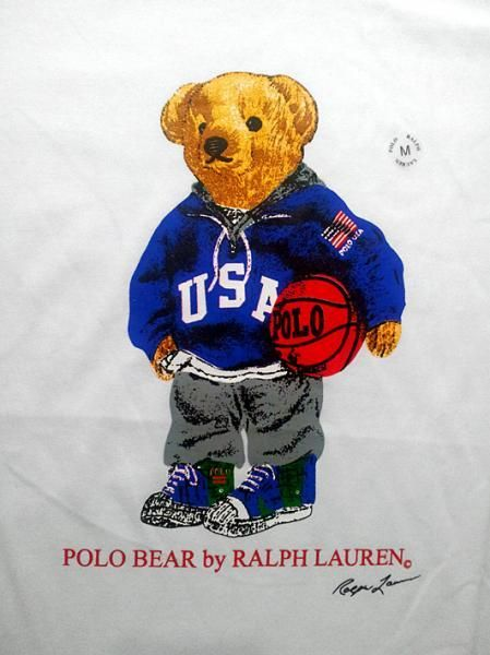 RALPH LAUREN BASKET BALL POLO BEAR ROUND NECK T SHIRT - Condition  Original  - factory over run stock for export. - A relaxed a6f29f488