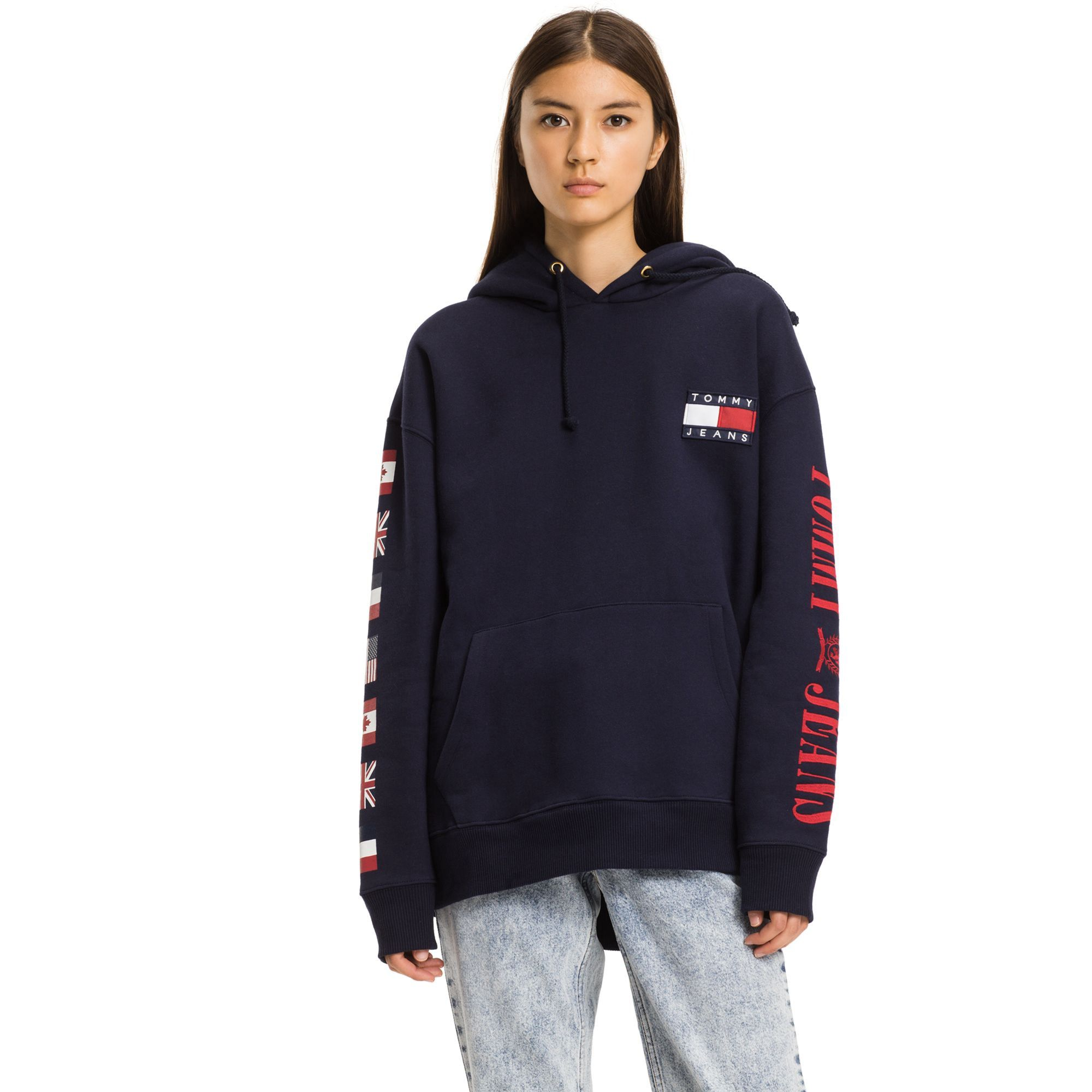ba348fe34c4 TOMMY HILFIGER TOMMY JEANS LOGO HOODIE - PEACOAT.  tommyhilfiger  cloth