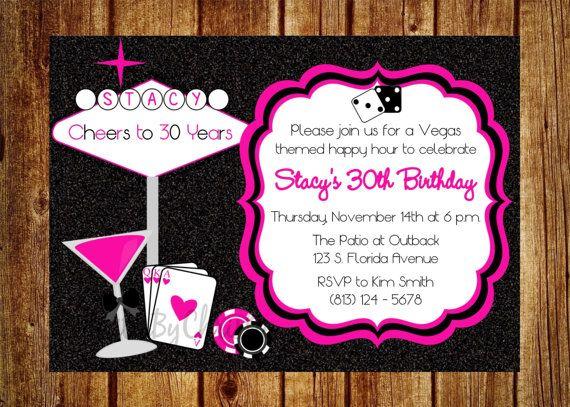 Vegas Style 30th Birthday Invitation Digital By InvitesByChristie 1200