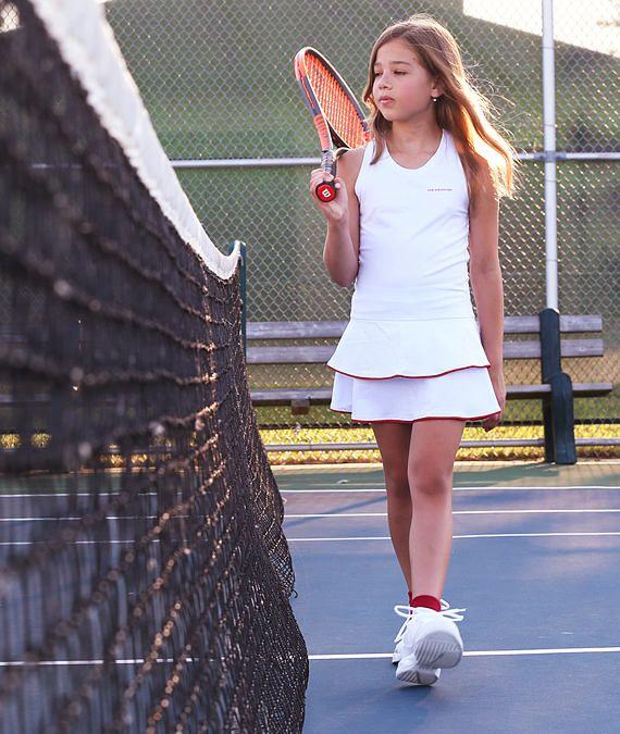 Girls Tennis Dress White Racerback Johanna Girls Tennis Etsy Girl Tennis Outfit Girls Tennis Dress Tennis Dress