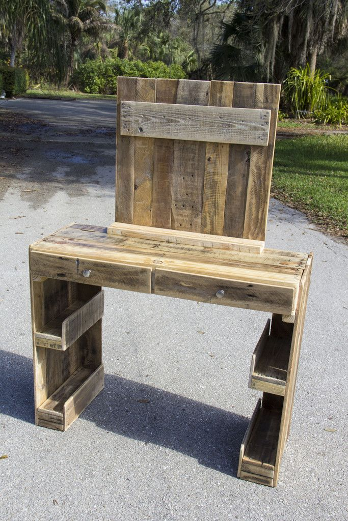 Vanity dresser made from reclaimed pallet wood pallete for Diy wood vanity