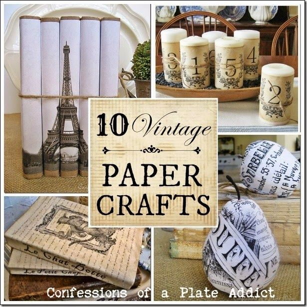 Confessions Of A Plate Addict Vintage Paper Crafts Plus How To Age Paper Vintage Paper Crafts Vintage Paper How To Age Paper