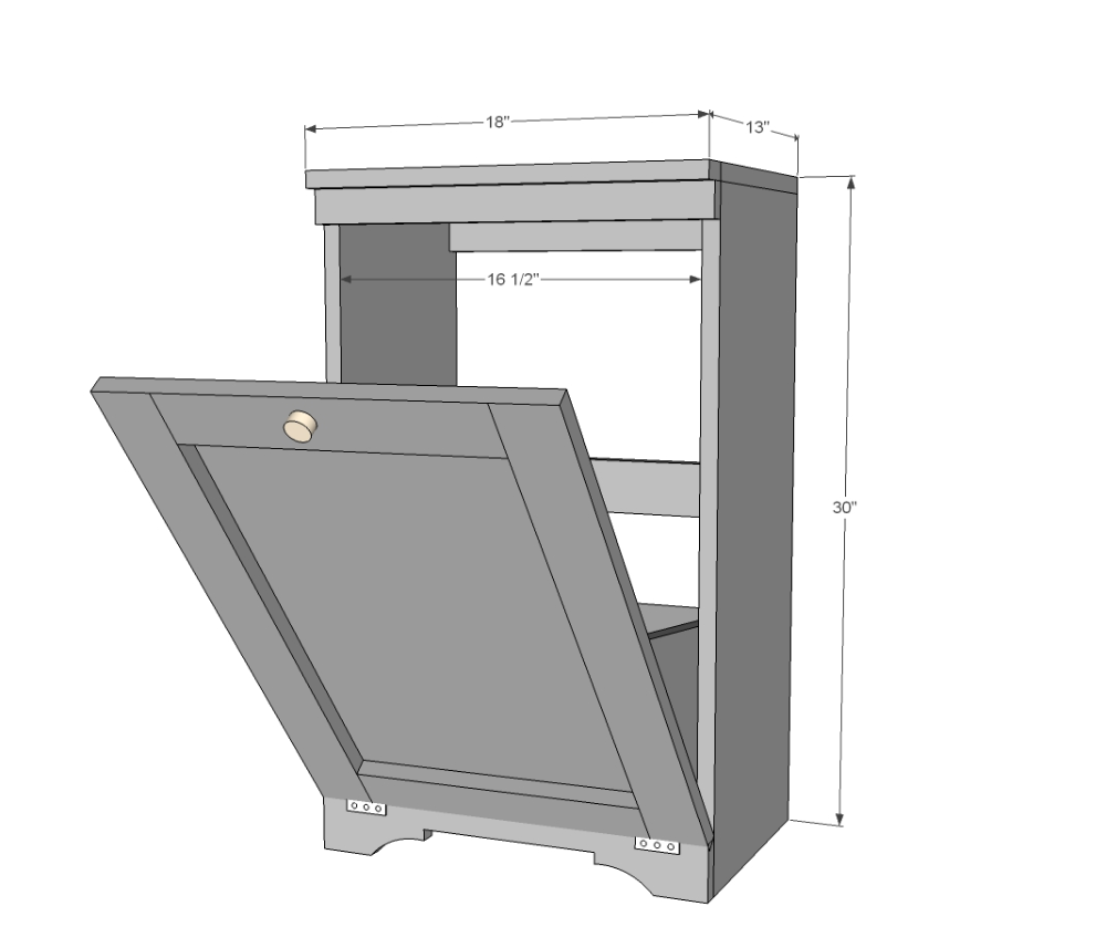 Wood Tilt Out Trash Or Recycling Cabinet In 2020 Trash Can Cabinet Kitchen Trash Cans Trash Bins