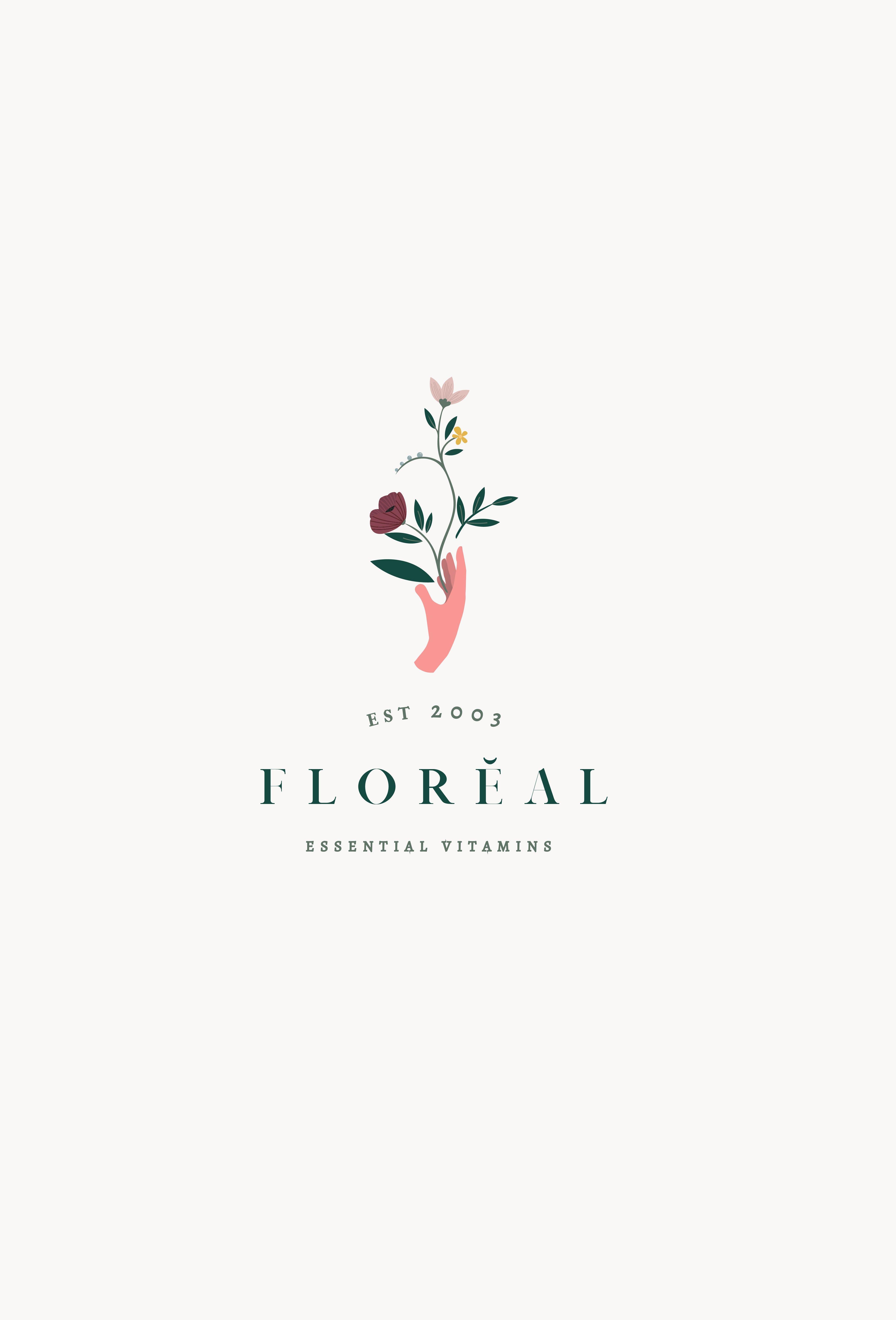 Logo Design For Floreal Elegant And Feminine Logo Branding