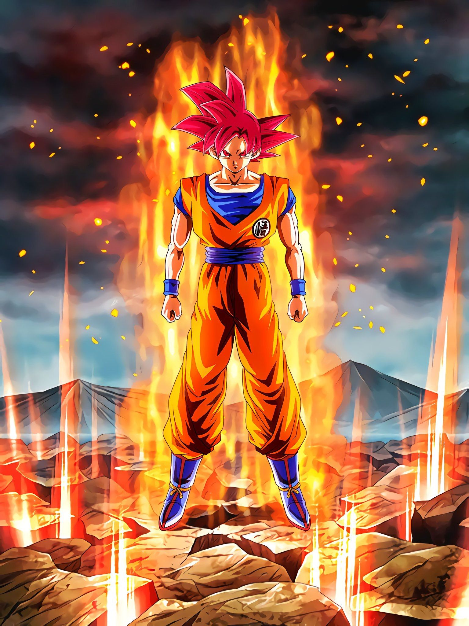Goku SSaiyanjinGod AGI | wallpaper | Dragon ball, Dragon ball gt