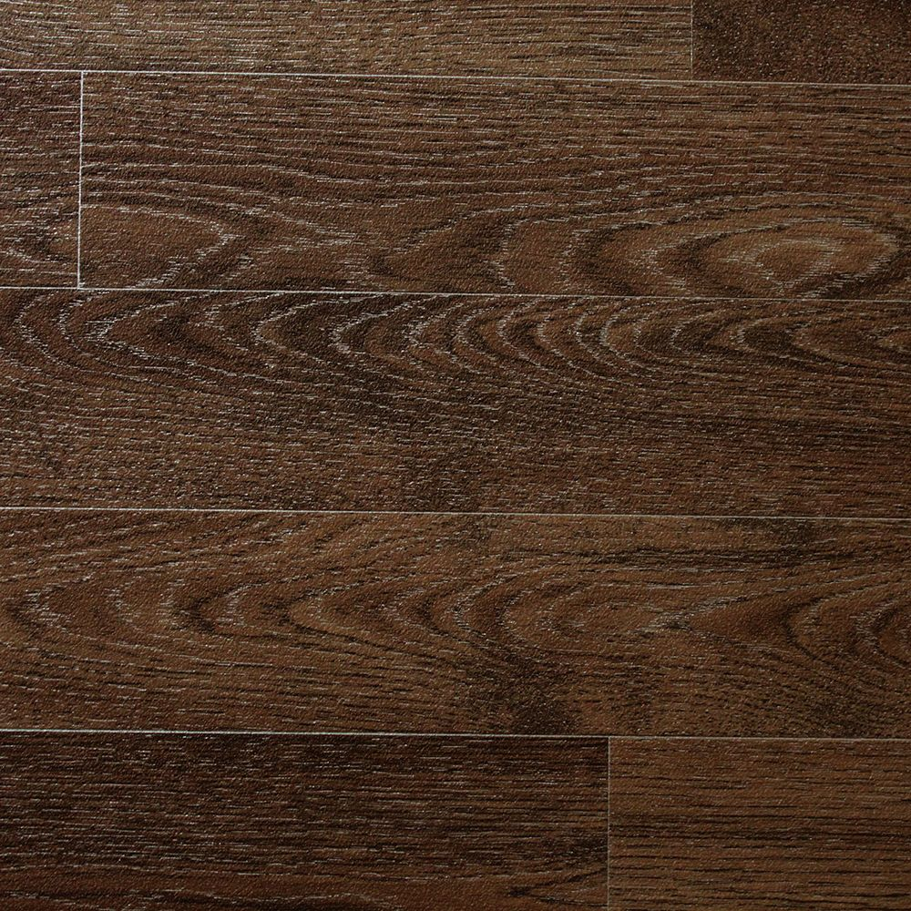 Dark oak wood non slip vinyl flooring lino kitchen for Cheap linoleum flooring