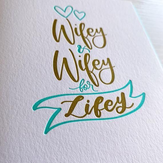 Lesbian wedding card Gay wedding card Gay Marriage Pride | Etsy
