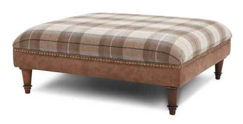 Oakland Check Top Large Footstool Oakland Dfs Large Footstools
