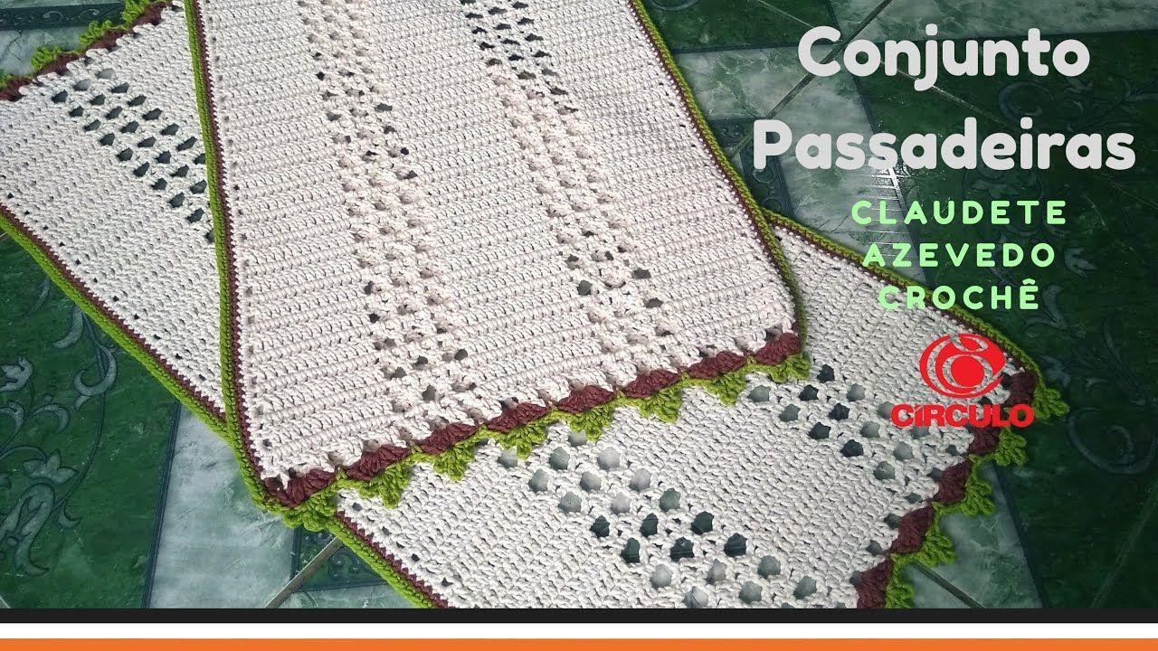 Conjunto Passadeiras de Crochê Fácil   Tapetes en crochet ...