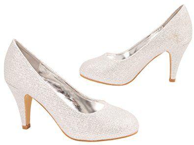 Damen Pumps Schuhe Elegant High Heels Bequeme Beige 38 HNmqZCF