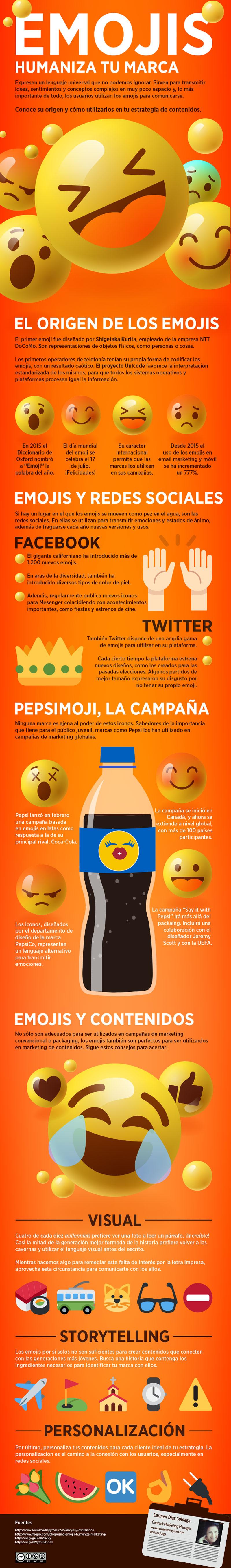 Cómo utilizar los emojis y contenidos para humanizar tu marca #infografia