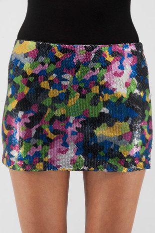 Sequin funfetti skirt