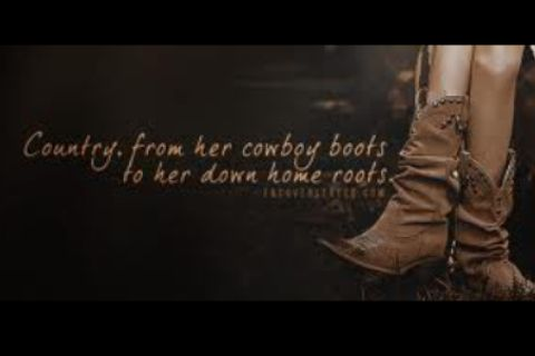Country from her cowboy boots to her down home roots