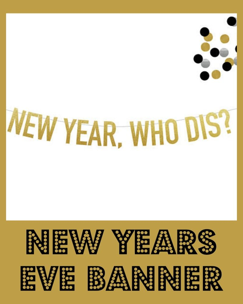 New Year, Who Dis?Funny Banner for a New Years Eve party. Could ...