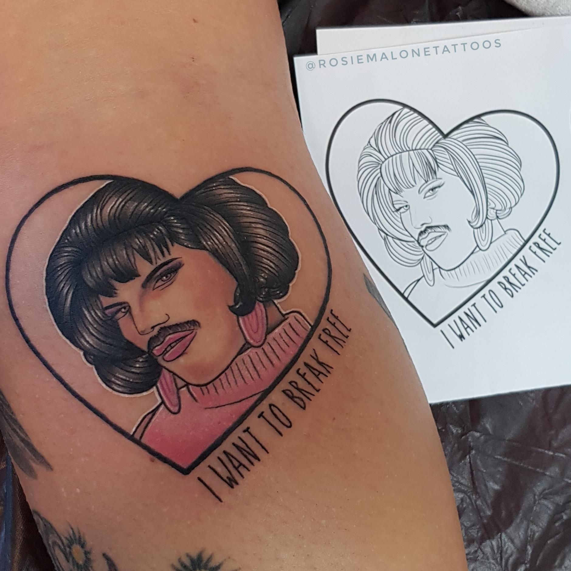 i want to break free tattoo