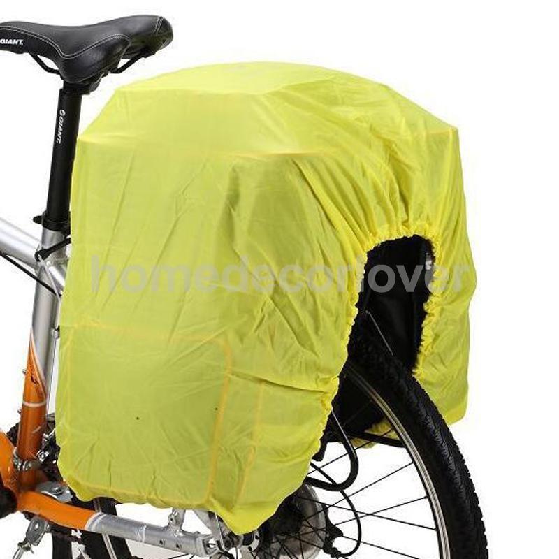 Road Cycling Bike Bicycle Rear Rack Seat Pannier Bag Waterproof with Rain Cover