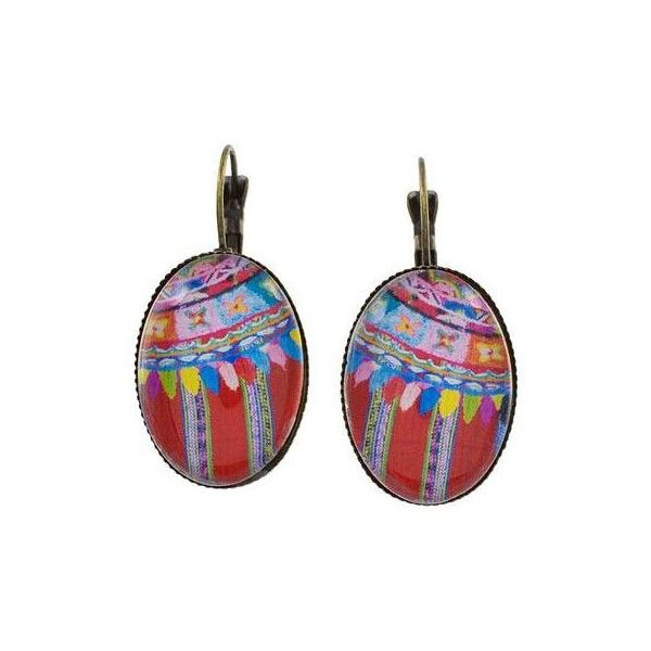 NOVICA Brass and Glass Antique Finish Drop Earrings in Red ($35) ❤ liked on Polyvore featuring jewelry, earrings, clothing & accessories, drop, red, petite jewelry, glass drop earrings, red jewellery, flower jewelry and flower drop earrings