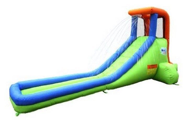 Water Slide Inflatable Bounce House Rock Climb Backyard Waterslide Blower Toy Bounceland Cool