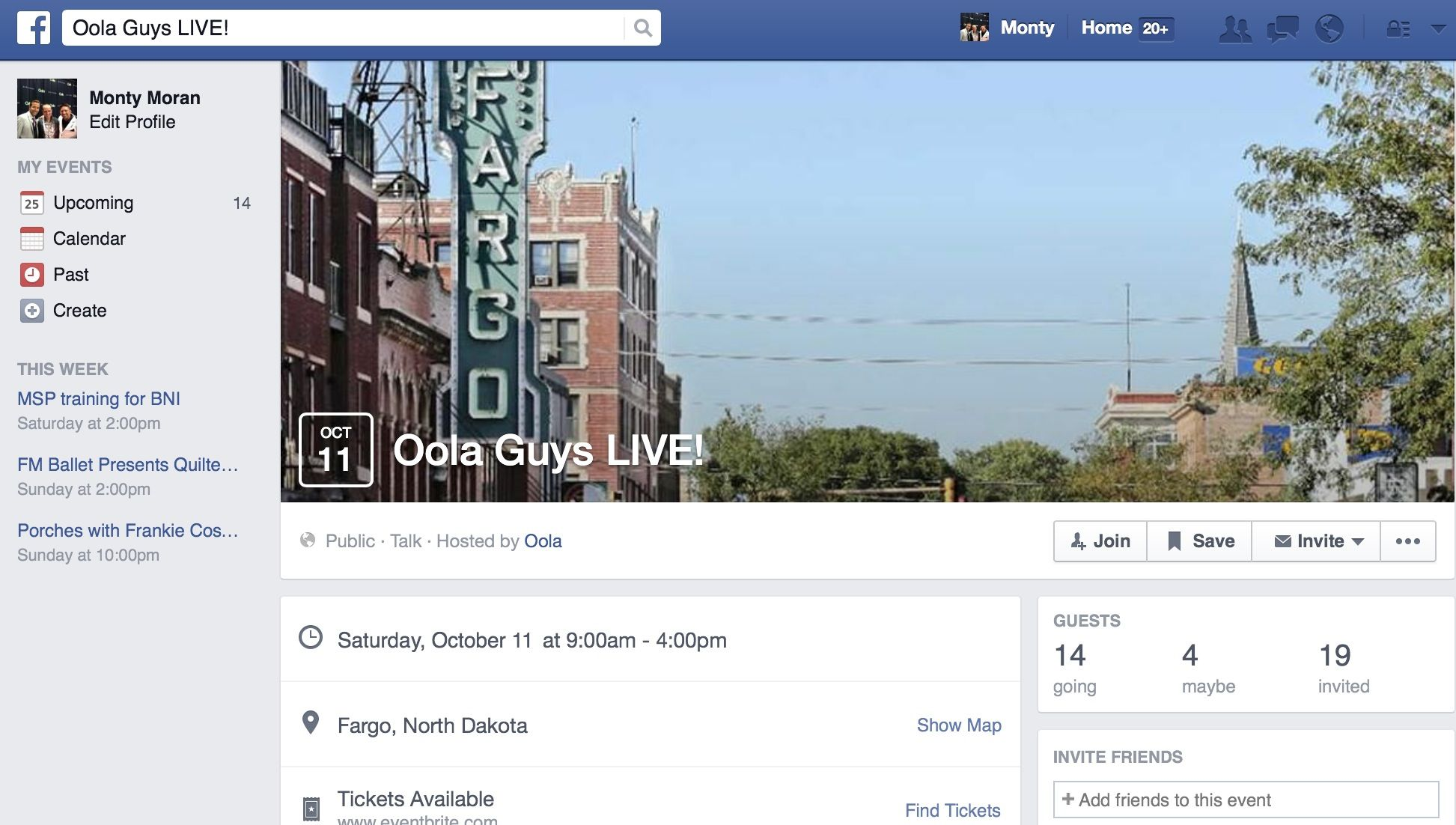 See the #Oola guys live in #OolaFargo at the Ramada Inn Saturday Oct 11 from 2:30-4pm  This is one of the top 10 events in Fargo this Fall #iLoveFago