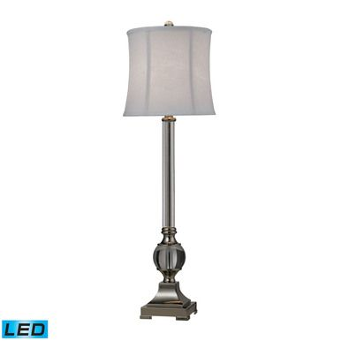 Dimond Lighting Corvallis LED Buffet Lamp In Polished Nickel And Clear Finish