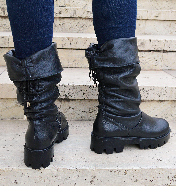156c6836bf55 Black High Boots