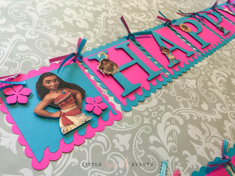 Design banner for etsy - Moana Birthday Banner Moana Birthday Moana Party Moana Banner Moana Party Supplies