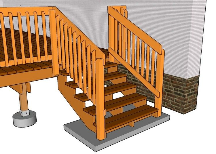 gartentreppe-holz-bauen-plan-betonpodest-gelaender | DIY Möbel ...