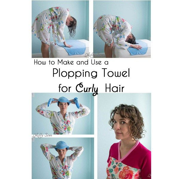 Tutorial No Sew Plopping Towel For Frizz Free Curly Hair Curly Hair Styles Frizz Free Curly Hair Hair Towel