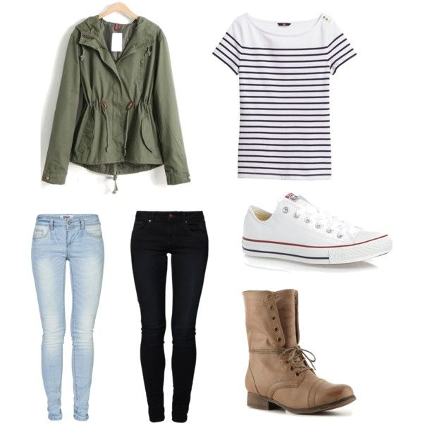 Back to school outfit. Dressy with dark denim, casual with ...
