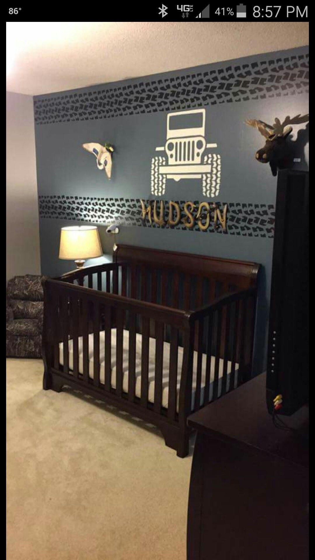 Baby jeep bed - Jeep Room