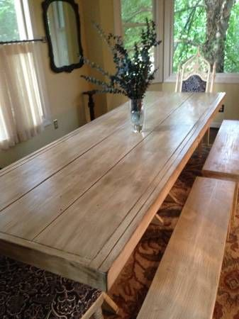 9 Foot Long Farm Table With Benches Farm Table With Bench