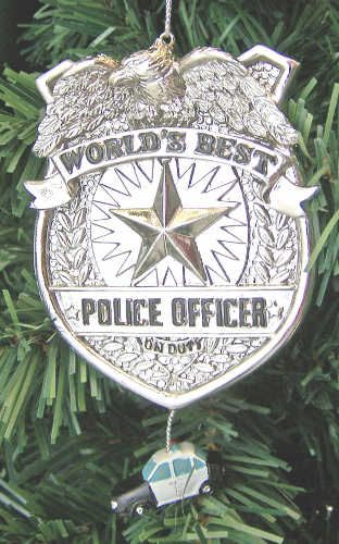 Christmas Ornament  Love Police Ornament  Police Officer Gift  Glass Ornament