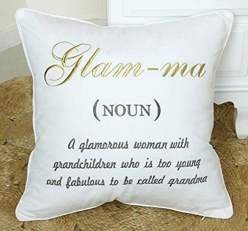 Grandma gift grandchildren Grandma quote pillow baby shower grandmother gift Throw pillow covers Grandma shower new grandmother