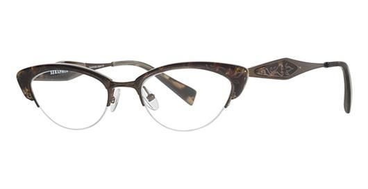 ec2cca41b58  195 Seraphin Marquette 8530 Tortoise Antique Gold eyeglasses-- (but too  Big