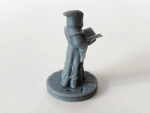 Priest 28mm Miniature RESIN Monk | Wargaming Terrain | Dungeons and Dragons | Warhammer | dnd Miniat #wargamingterrain