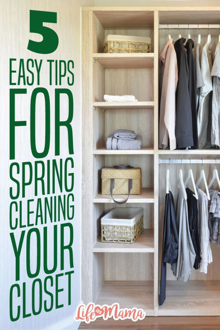 5 easy tips for spring cleaning your closet | wardrobes, cleaning