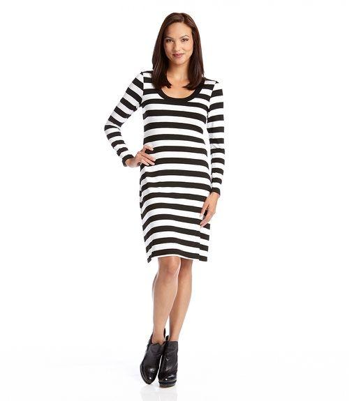 5e8e829ca04 Karen Kane Long Sleeve T Shirt Dress   Products   Striped dress ...