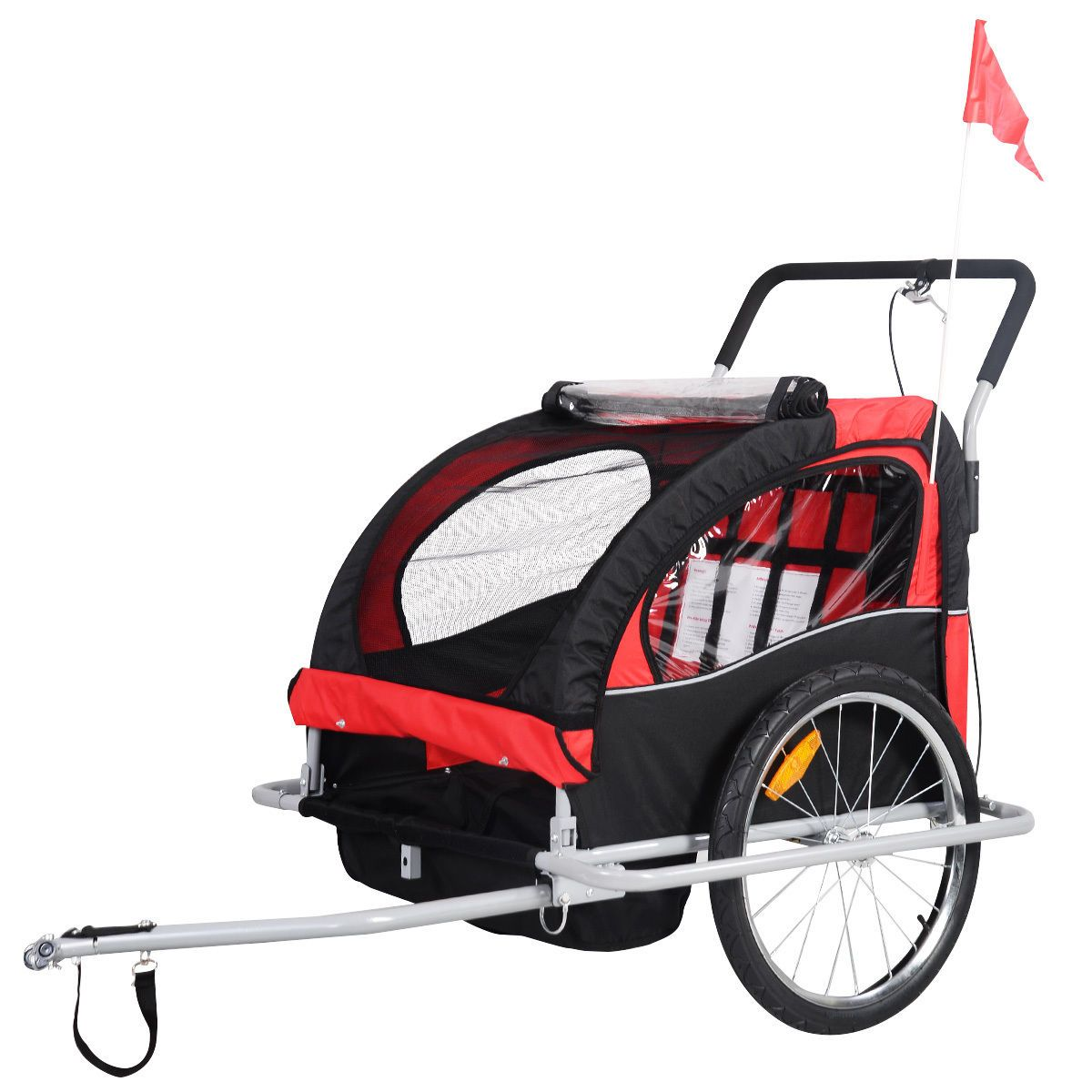 2in1 Double Child Baby Bike Trailer Baby bike, Baby