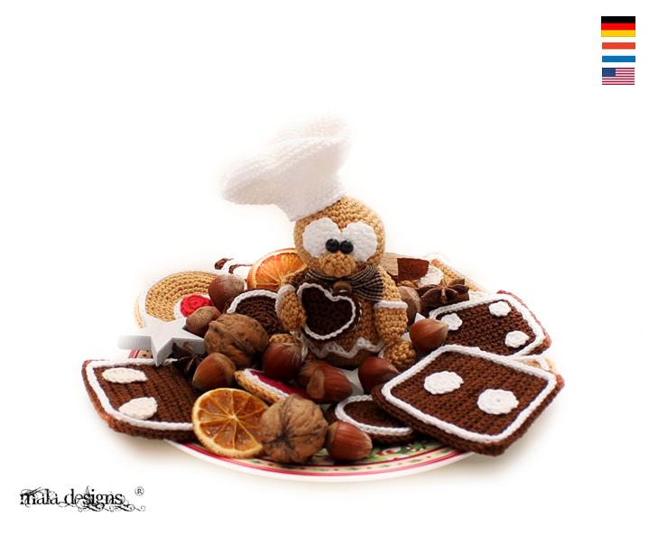 Lebkuchenmännchen mit Keksen | Crochet - Häkeln | Pinterest ...